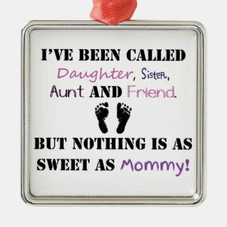 Nya mammor julgransprydnad metall