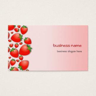 Nya rosor för jordgubbe visitkort