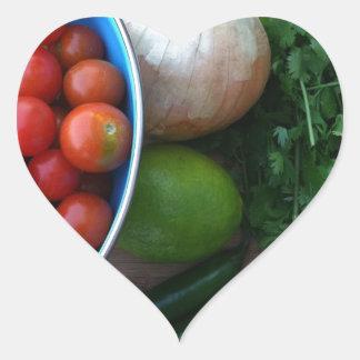 Nya trädgårds- Veggies Hjärtformat Klistermärke