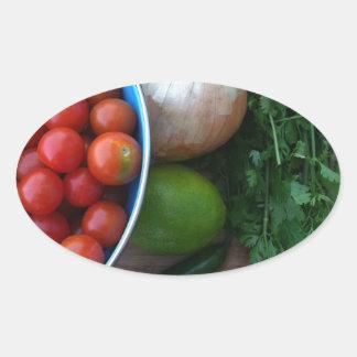Nya trädgårds- Veggies Ovalt Klistermärke
