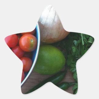 Nya trädgårds- Veggies Stjärnformat Klistermärke