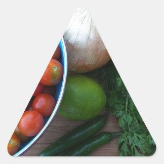 Nya trädgårds- Veggies Triangelformat Klistermärke