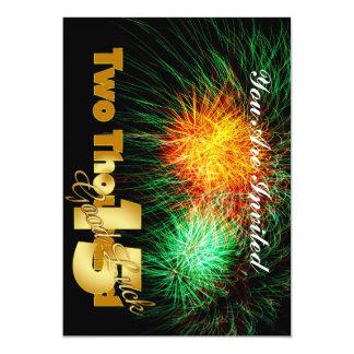 Nyårsafton 2015 12,7 x 17,8 cm inbjudningskort