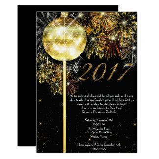 Nyårsaftoninbjudan, nyårsafton 12,7 x 17,8 cm inbjudningskort