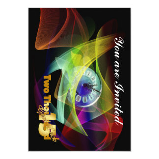 Nyårsaftonparty 2015 12,7 x 17,8 cm inbjudningskort