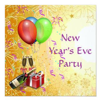 Nyårsaftonpartyinbjudan Fyrkantigt 13,3 Cm Inbjudningskort