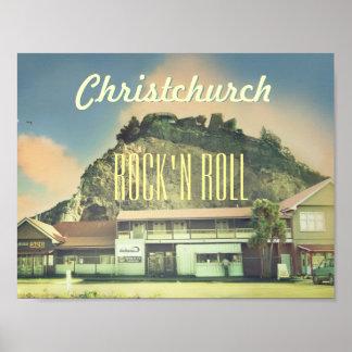 Nyazeeländsk Christchurch sten - och - rulle Posters