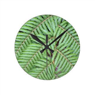 Nyazeeländsk grön fern rund klocka