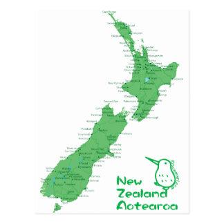 Nyazeeländsk karta vykort