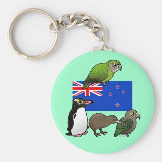 Nyazeeländska Birdorables Rund Nyckelring