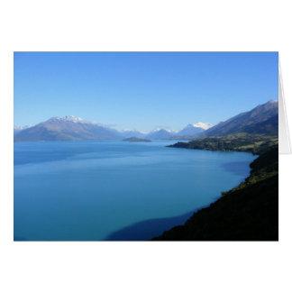 Nyazeeländskt landskapkort hälsningskort