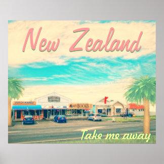 Nyazeeländskt ta mig bort affischer