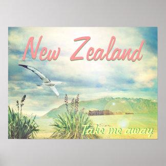 Nyazeeländskt ta mig bort poster