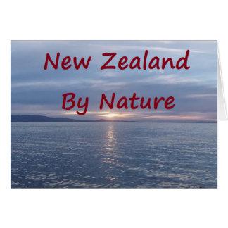 Nyazeeländskt vid naturen hälsningskort