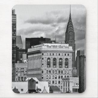 NYC: Chrysler byggnad, baksida av Flatiron B&W 001 Musmatta