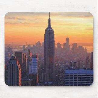 NYC-horisont: Empire state som bygger orange Mus Mattor