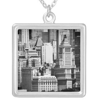 NYC-horisont IX Silverpläterat Halsband