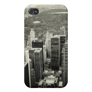 NYC-horisont och Central Park iPhone 4 Cover