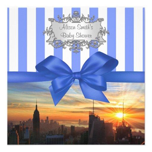 NYC-horisont på solnedgångbaby showerinbjudan