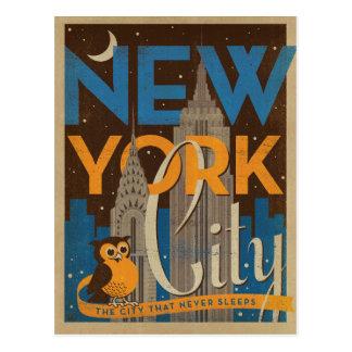 NYC - Staden som sovar aldrig Vykort