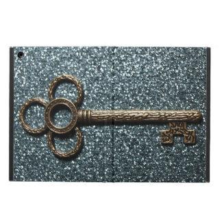 Nyckel med Glittery blått