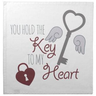 Nyckel till hjärta tygservett