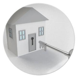 Nyckelhem, fastighetsmäklare som säljer tallrik