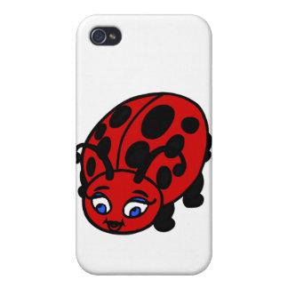 nyckelpiga för gulligt kryp för iPhone 4 cases