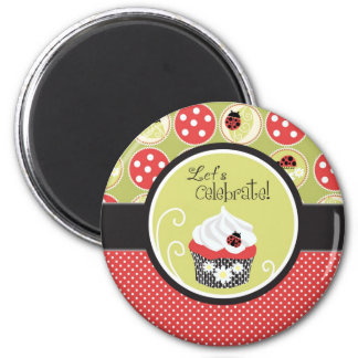 Nyckelpiga- & muffinfödelsedag magnet
