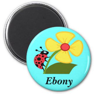 Nyckelpiga på gul blomma magnet