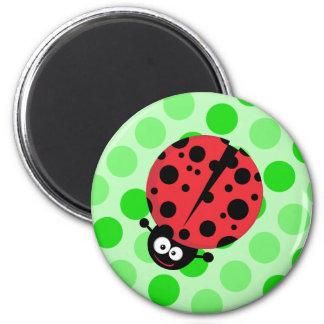 Nyckelpiga på polka dots magnet