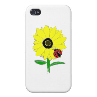 Nyckelpiga & solros iPhone 4 cover