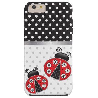 Nyckelpigor med polka dots tough iPhone 6 plus skal