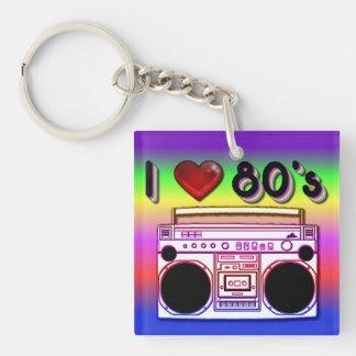 Nyckelring för akryl för Boombox 80-tal Retro