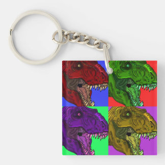 Nyckelring för akryl för Rex popkonst