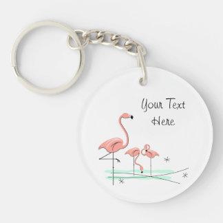 Nyckelring för akryl för text för FlamingoTrio 4