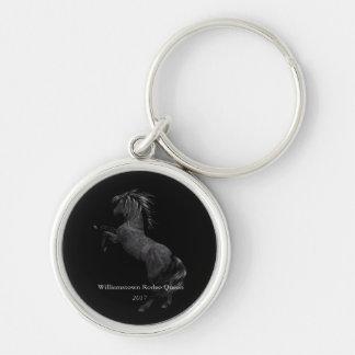 Nyckelring för metall för häst för Fröcken Amerika