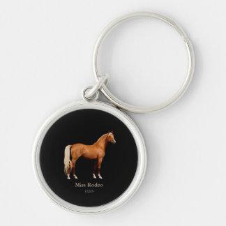 Nyckelring för metall för häst för Fröcken USA