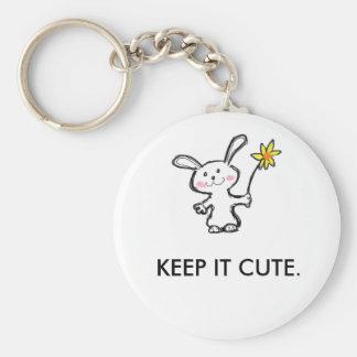 Nyckelring. Mycket cute. Rund Nyckelring