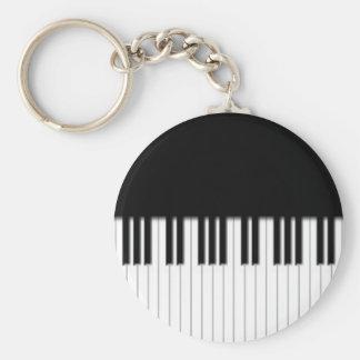 Nyckelring - svart vit för pianotangentbordnycklar