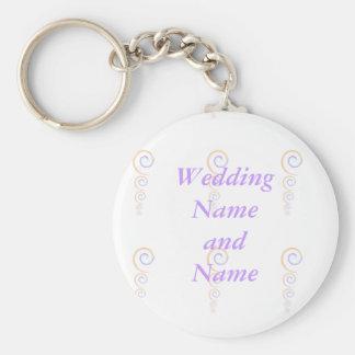 Nyckelringbröllop favoriserar den moderna rund nyckelring