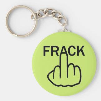 Nyckelringstopp Fracking Rund Nyckelring