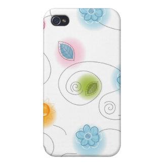Nyckfull blommigt mig iPhone 4 hud