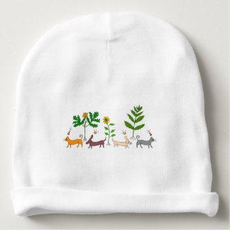 Nyckfull botanisk babyBeaniehatt