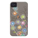 Nyckfull färgrik blommigt för Groovy blomsterträdg Case-Mate iPhone 4 Skydd