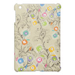 Nyckfull färgrik blommigt för Groovy blomsterträdg iPad Mini Mobil Fodral