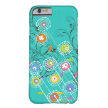 Nyckfull färgrik blommigt för Groovy Barely There iPhone 6 Fodral