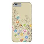 Nyckfull färgrik blommigt för Groovy Barely There iPhone 6 Skal