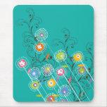Nyckfull färgrik blommigt för Groovy Musmatta
