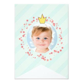 Nyckfull felik Bunting för Princess 12,7 X 17,8 Cm Inbjudningskort